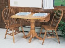 River Shore Pedestal Drop Leaf Table