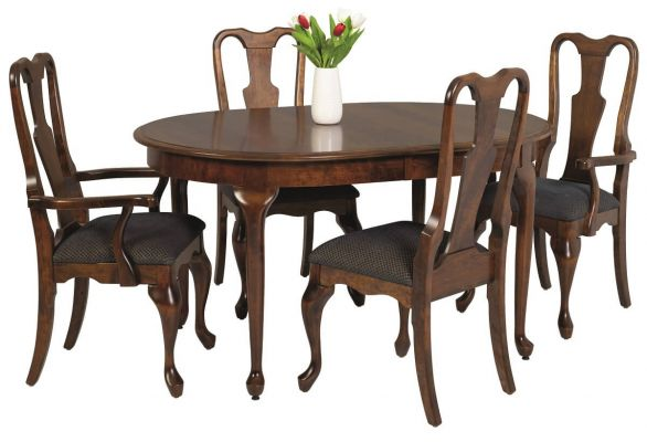 Adelia Queen Anne Oval Table Countryside Amish Furniture