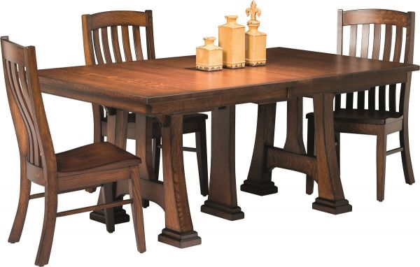 Castaneda Trestle Table with Leaves