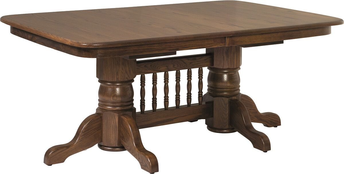 Cussetta Double Pedestal Table