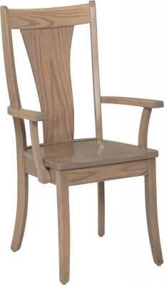 Gray Oak Dining Chair