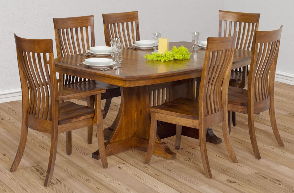 Manila Mission Dining Set Countryside, Craftsman Lighting Dining Room Table And Chairs Set