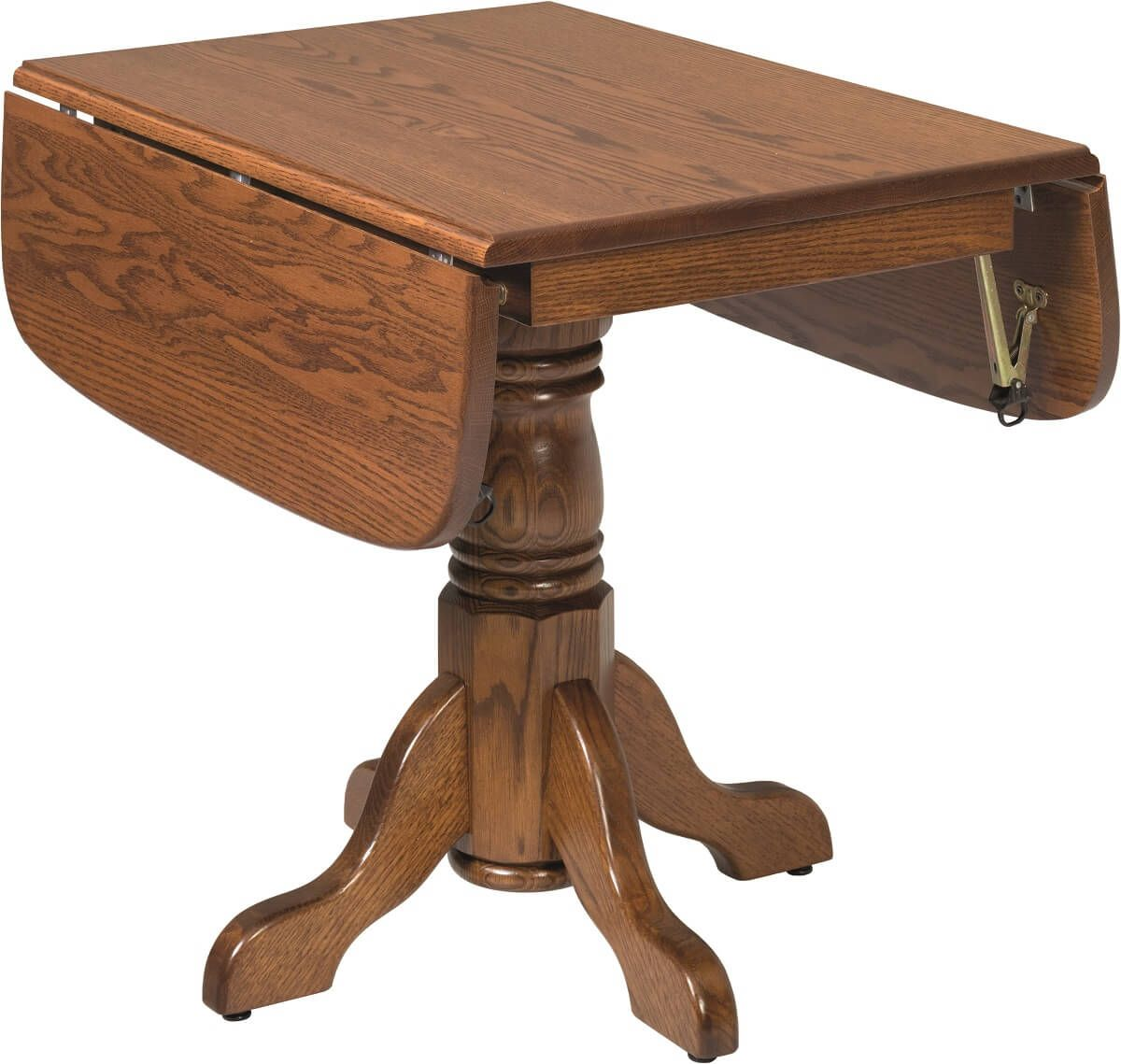 River Shore Pedestal Drop Leaf Table Countryside Amish Furniture