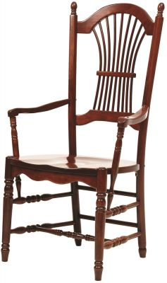 Arkansas Sheaf Back Arm Chair