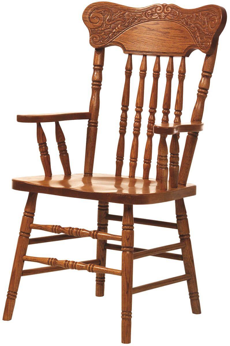 Oak Pressback Dining Chair