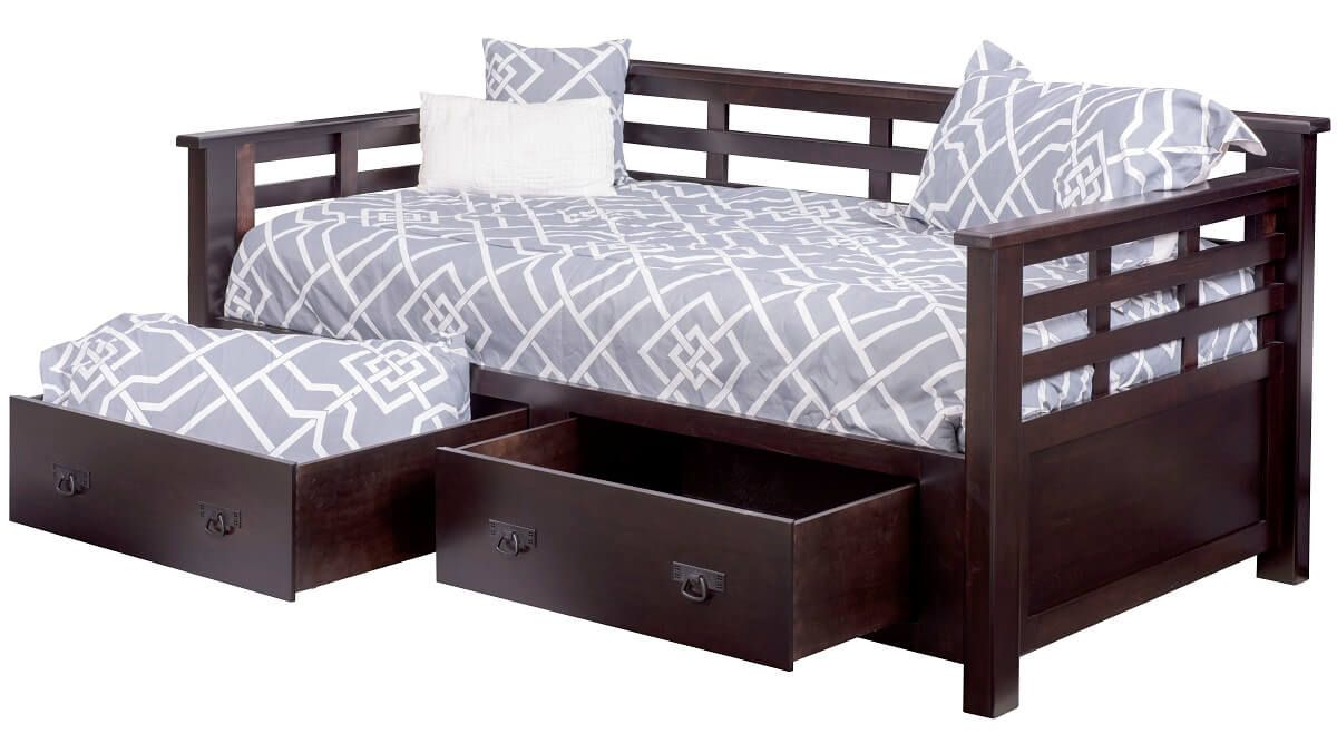 Darcie Day Bed in Brown Maple