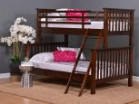 Solid Wood Twin Over Full Bunk Bed