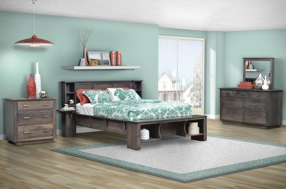 Celina Modern Gray Bedroom Set - Countryside Amish Furniture