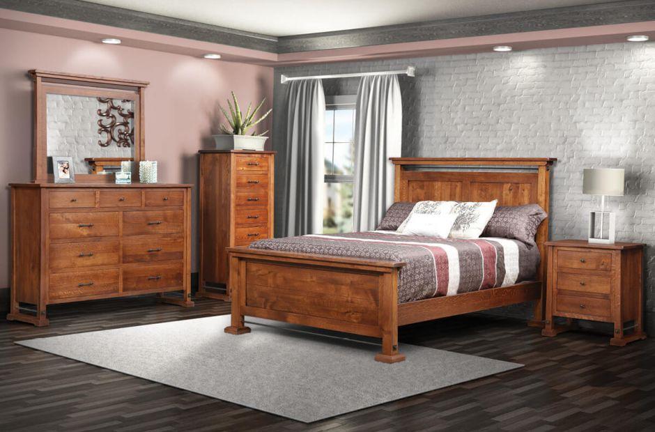 Elkton Industrial Bedroom Set Countryside Amish Furniture