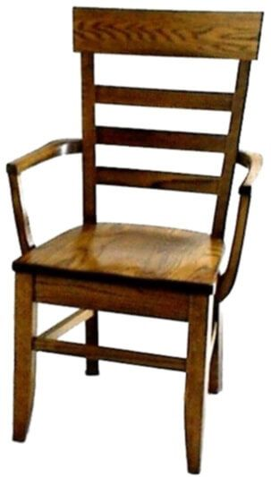 Alvy Amish Handmade Ladder Back Arm Chair
