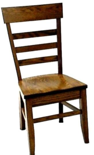 Alvy Amish Handmade Ladder Back Side Chair