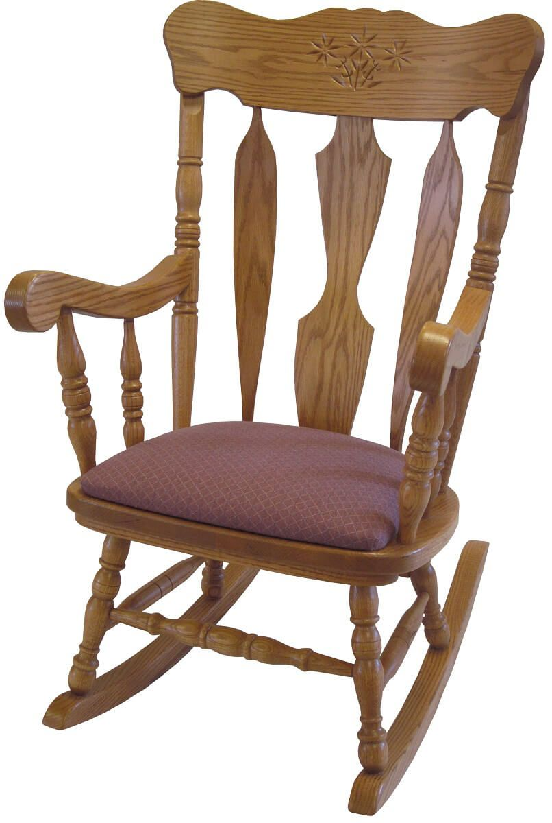 Frances Rocking Chair With Fabric