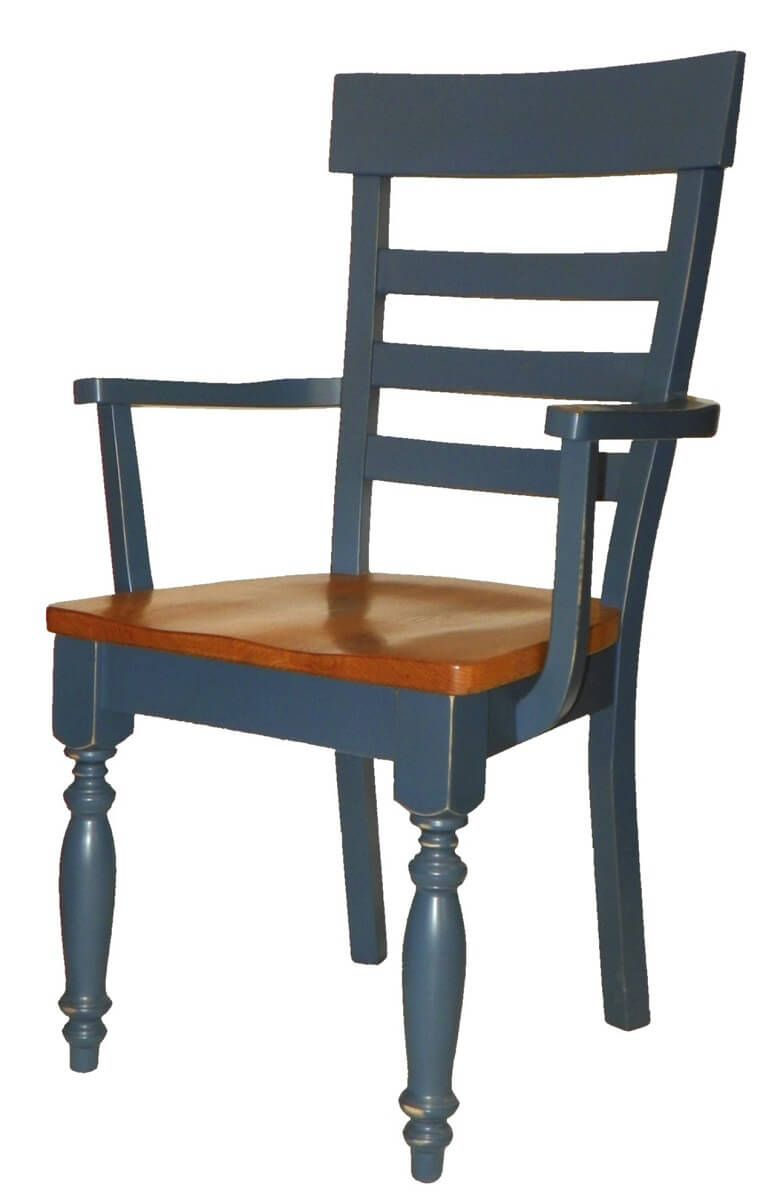 Lanier French Country Ladder Back Arm Chairs