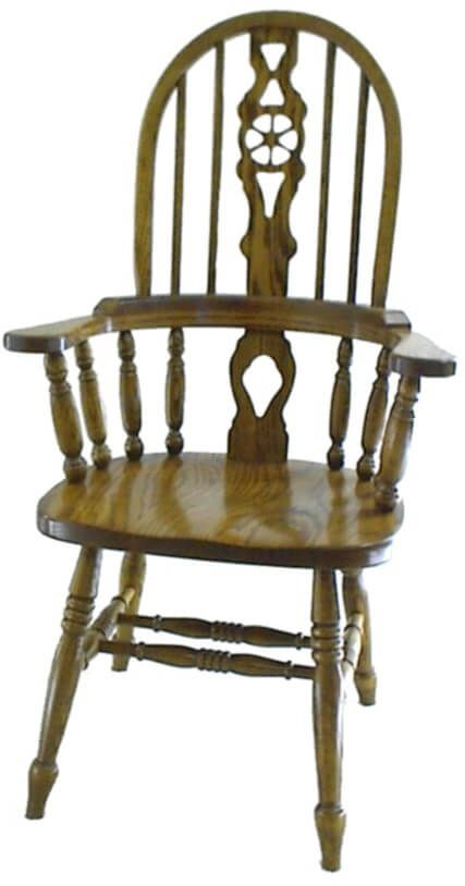 Exceptionnel Noble Wheel Fiddle Back Arm Chair