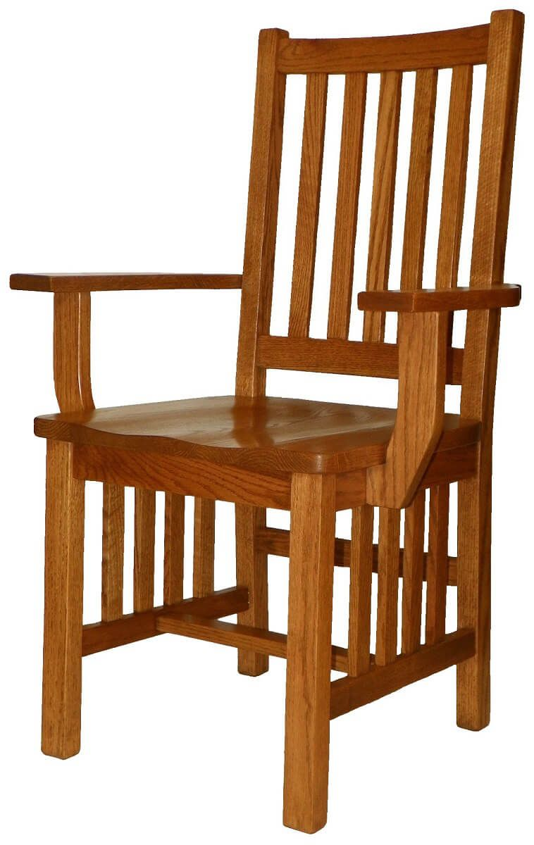 Yosemite Solid Oak Mission Dining Arm Chair