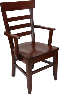 Alvy Amish Handmade Ladder Back Arm Chair