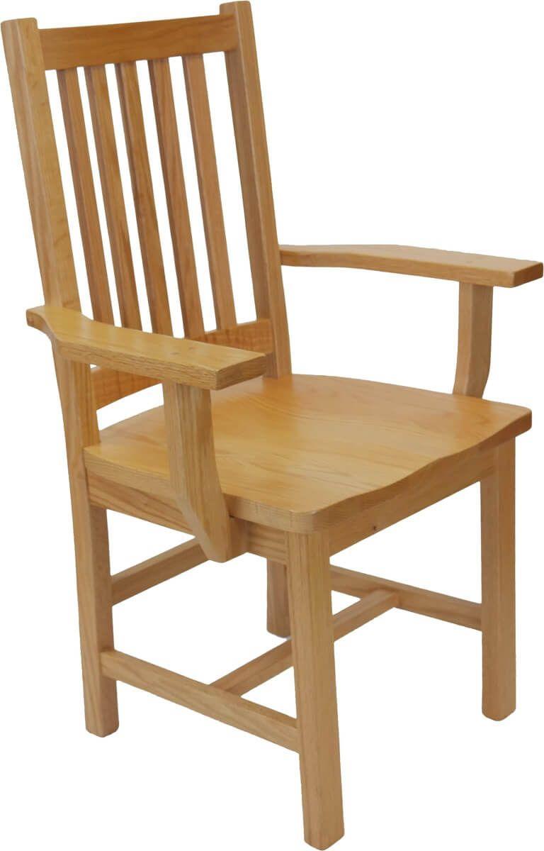 Oak Mission Arm Chair