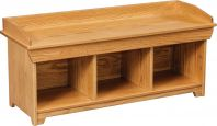 48-Inch Cottage Lake Shoe Bench