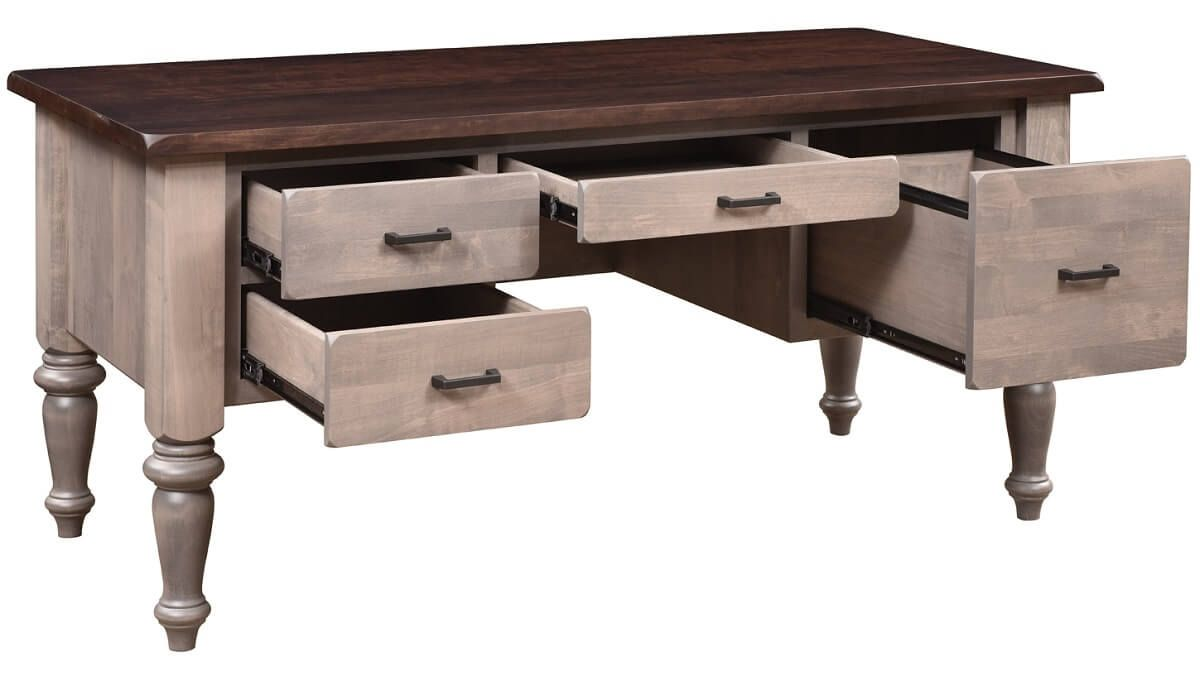 French Country Hardwood Office Desk