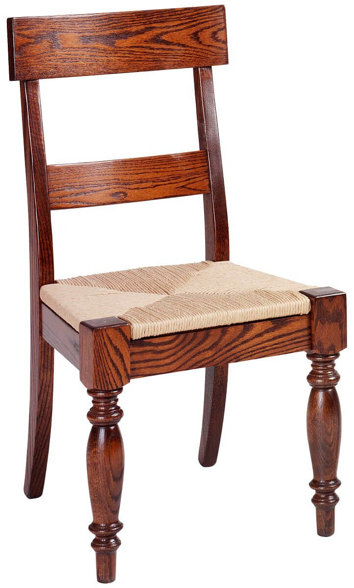 Brianne Dining Side Chair with Rushy Seat