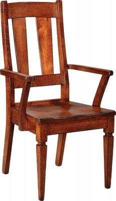 Castile Dining Arm Chair in solid wood
