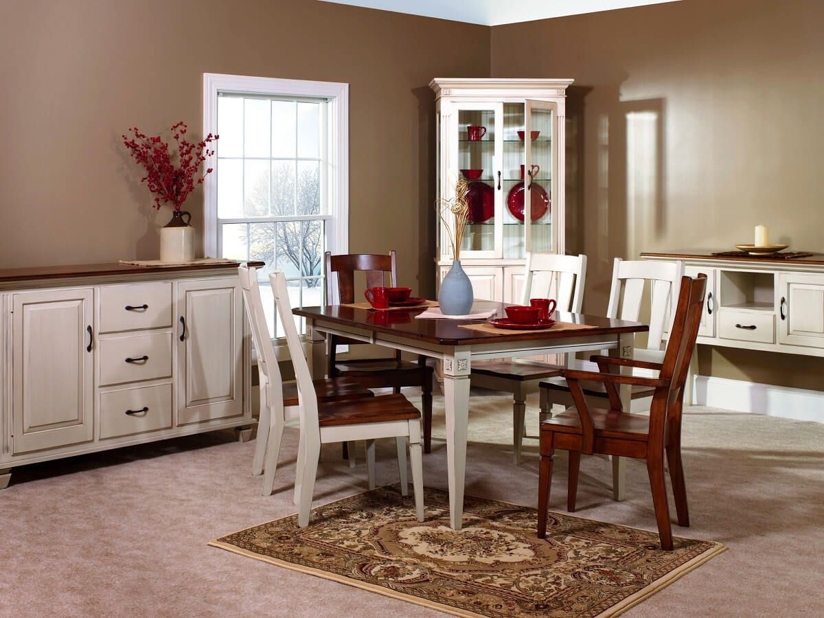 Part of the solid wood Castile Dining Room Set