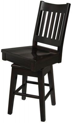 Duomo Swivel Bar Chair in black painted finish