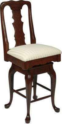 English Baroque Bar Chair in Cherry