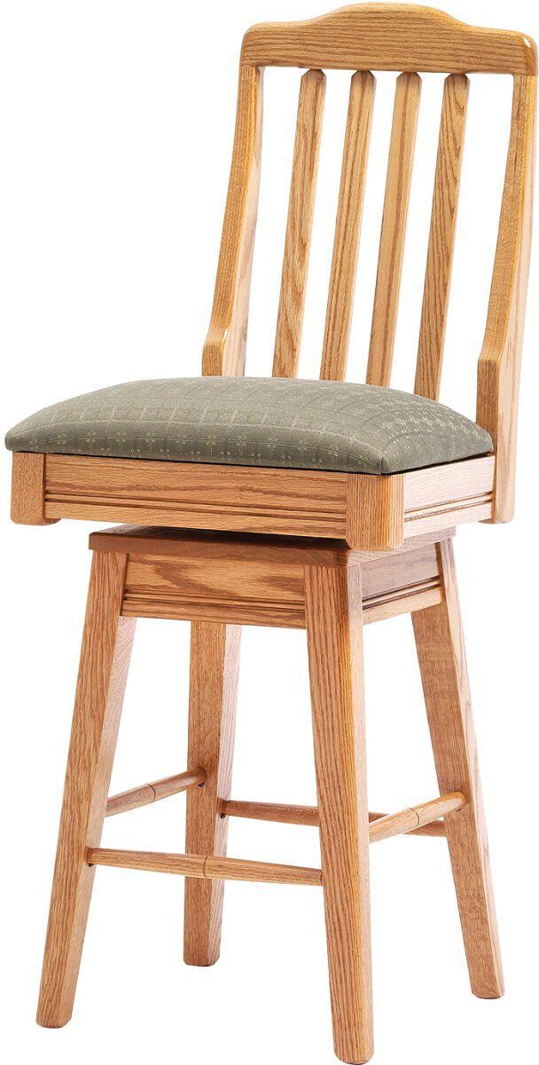 Jericho Swivel Bar Chair in Oak