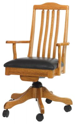 Oasis Desk Chair with leather seat