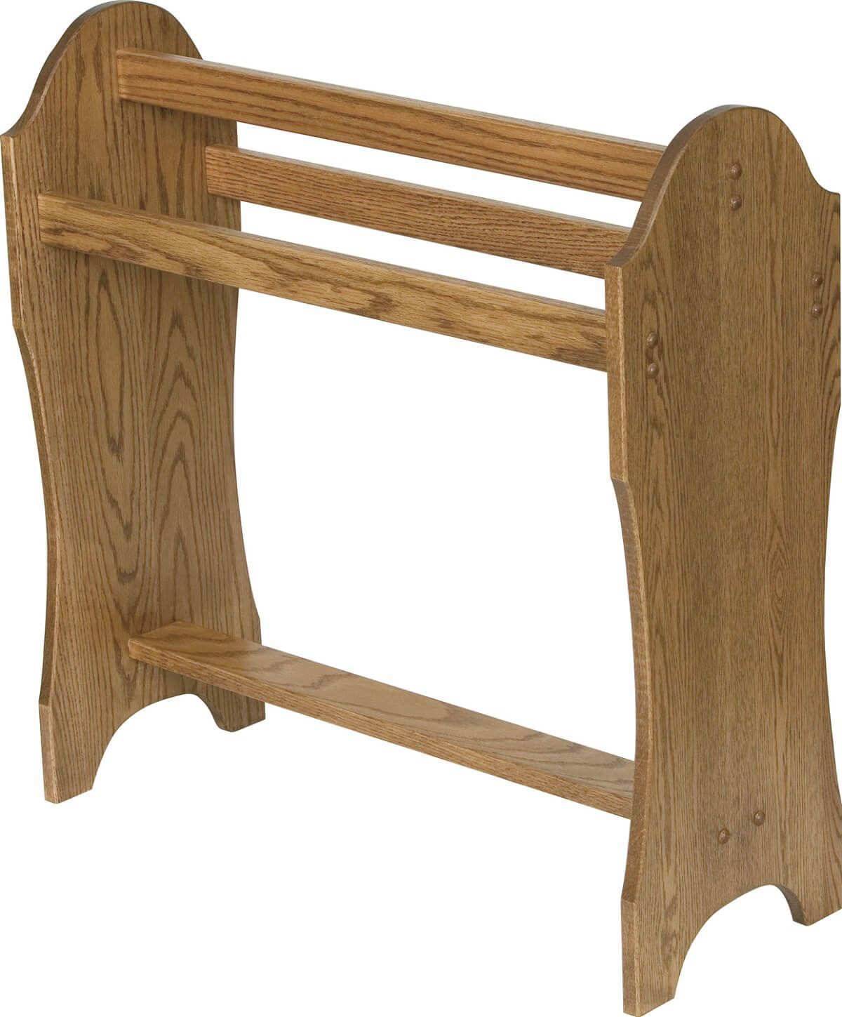 Ames Lake Quilt Rack in Oak