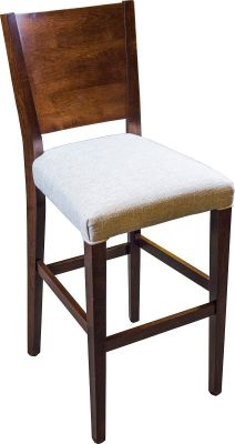Modern Bar Chair with Fabric Seat