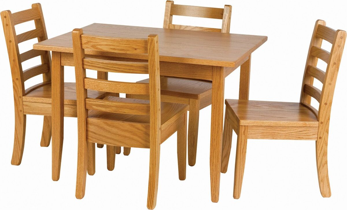 Amish Made Kids' Dining Table and Chairs