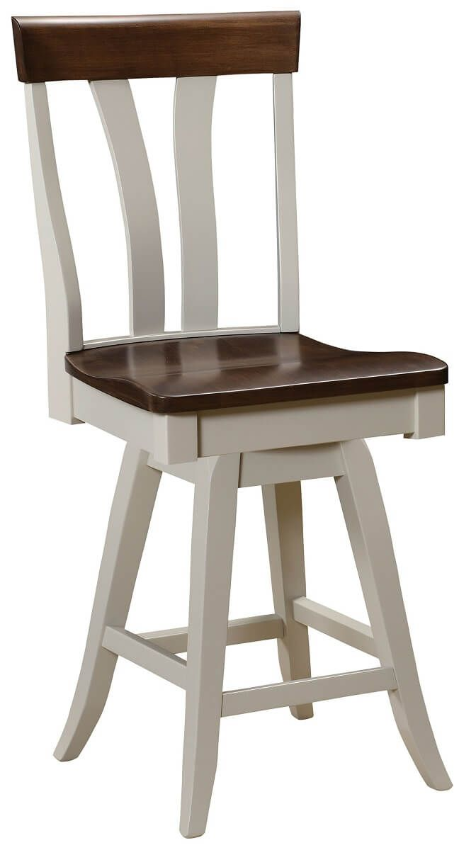Two Tone Swivel Bar Chair