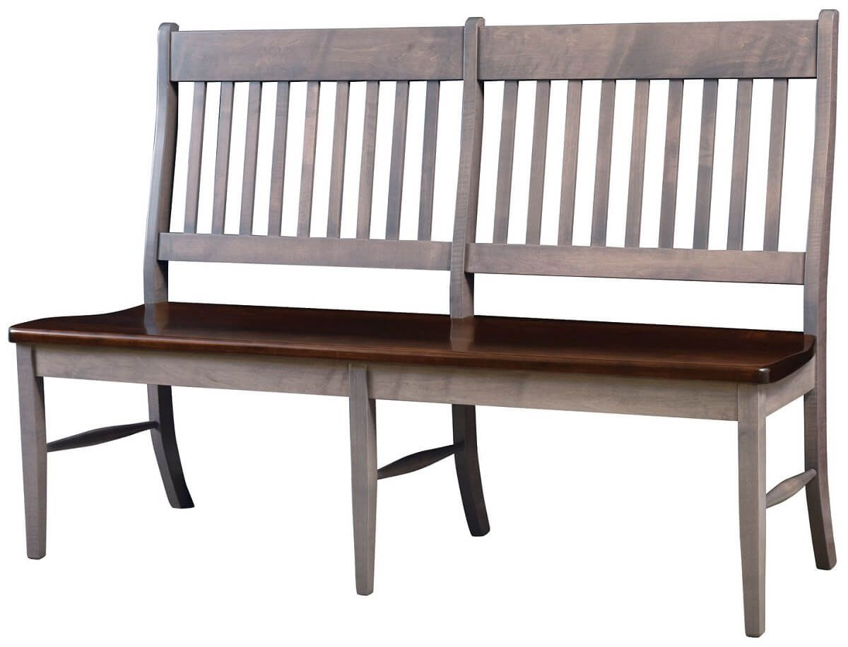 60-Inch Hardwood Bench with Back