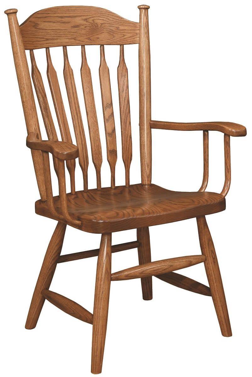 Traditional Oak Arm Chair