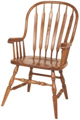 Bow Back Oak Chairs