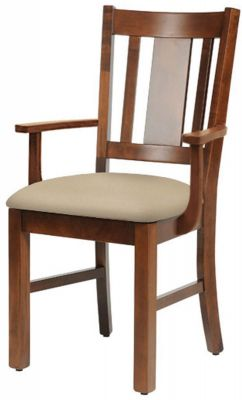 Henredon Solid Wood Arm Chair
