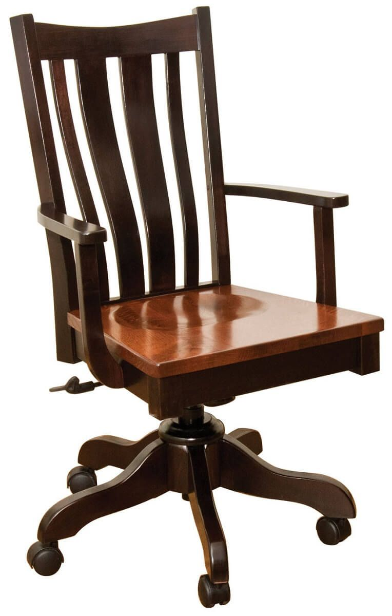 Lundy Hardwood Office Chair