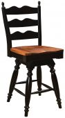 Normandy Ladder Back Swivel Stool