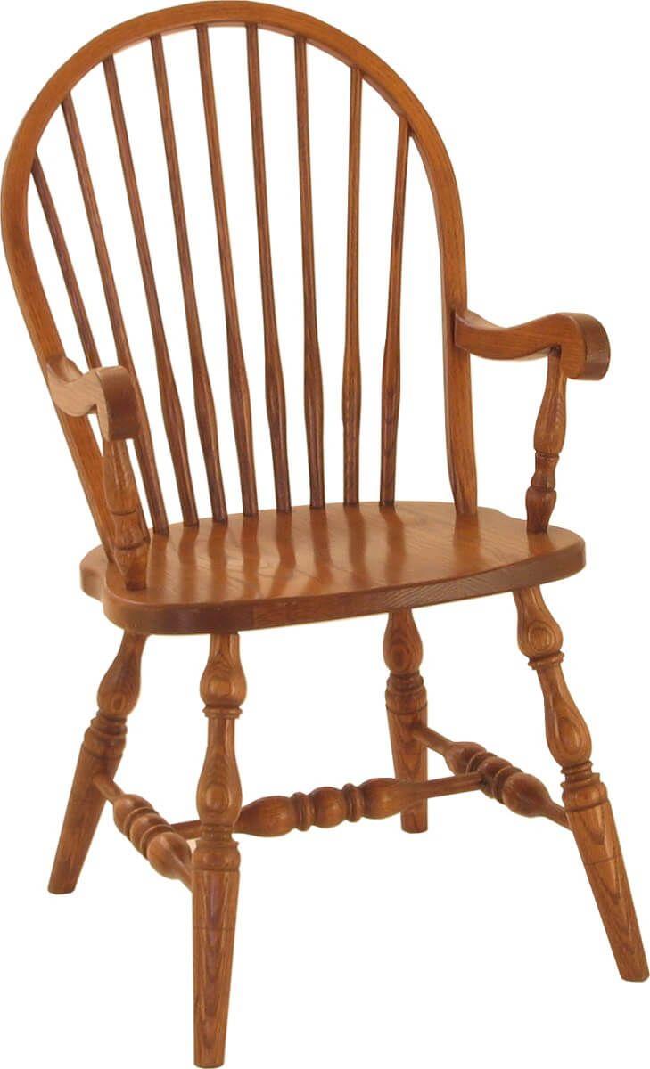 Arm chair shown in Oak