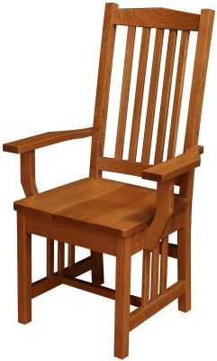 Carbondale Mission Dining Arm Chair