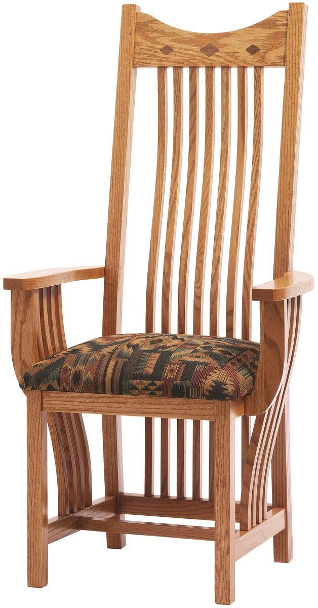 Arm chair with fabric seat