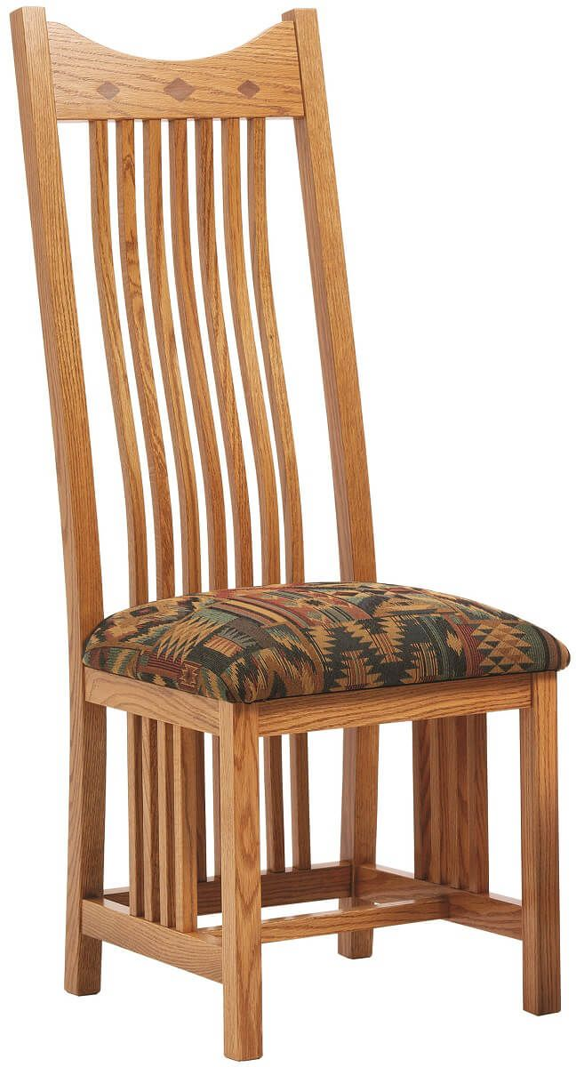 Side chair with fabric seat