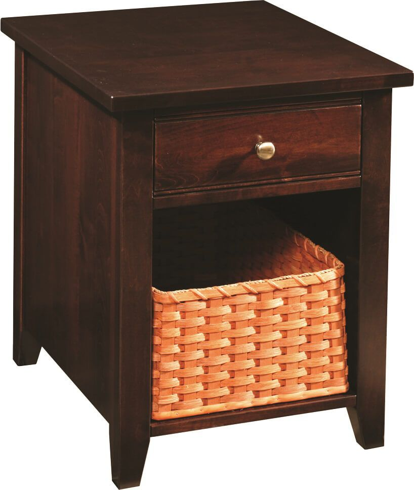 Abilene End Table with basket