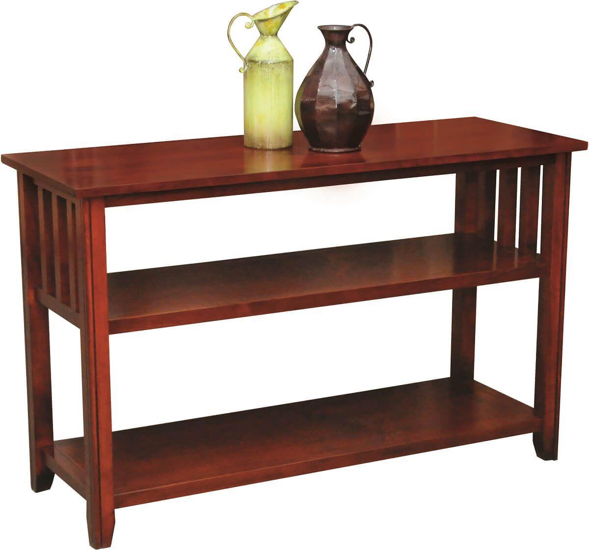 Aldora Console Table in Brown Maple