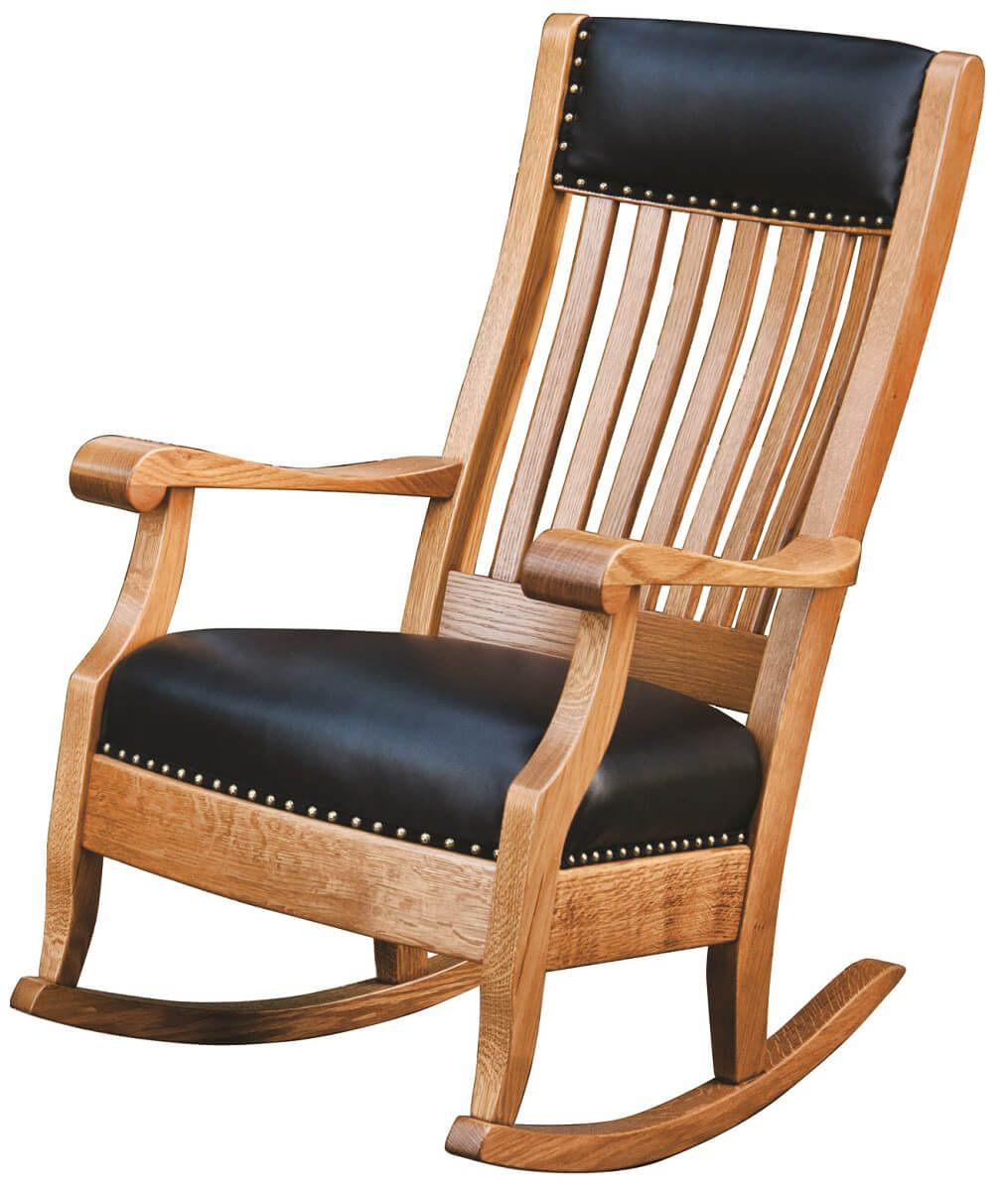 Solid Hardwood Amish Rocker