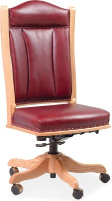 Bellbrook Office Chair with Cherry Red Leather