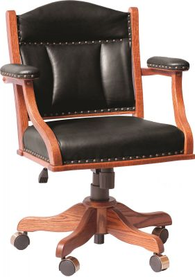 Leather Low Back Office Chair