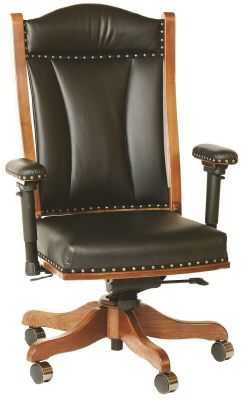 Glencoe Desk Chair with Adjustable Arms